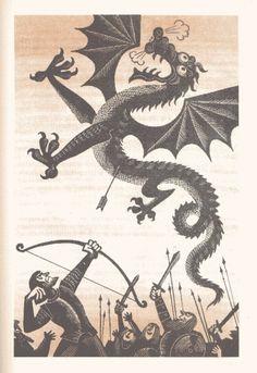 knight slaying dragon   art-dragon-drawing-fairy-tale-illustration-Favim.com-177145