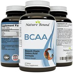 Best BCAA Supplement  Amazing Bodybuilding  Pre Workout Results  Pure Branched Chain Amino Acids  LLeucine  Food Grade Formula for Men and Women 60 tablets USA Made by Nature Bound ** You can find more details by visiting the image link.Note:It is affiliate link to Amazon.