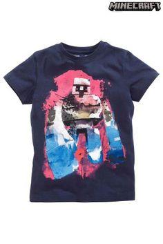 Buy Navy Golem Minecraft T-Shirt (4-14yrs) from the Next UK online shop