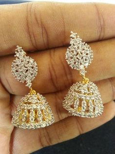 """""""Fashion earrings"""" <3 <3 Code: fae 321 Price:1990/- For booking and further details pls call or whatsapp us at +919600639563. Happy shopping y'all :) Be Beautiful :)"""