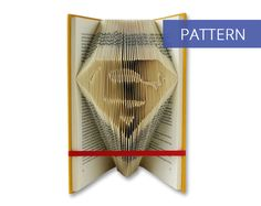 Folded Book Art Pattern - Superman - 159 Folds - Including manual - Bookfolding Pattern - Folded Book Pattern - Book Folding pattern