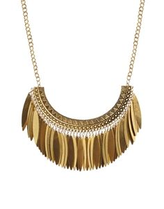 New Look Aztec Leaf Shard Necklace
