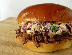 BBQ Beef Sandwich with Blue Cheese Cole Slaw-no beef for us-love blue cheese slaw- maybe on pulled pork! Bbq Beef Sandwiches, Brisket Sandwich, Wrap Sandwiches, Blue Cheese Coleslaw, Creamy Coleslaw, Beef Recipes, Cooking Recipes, Game Recipes, Yummy Recipes