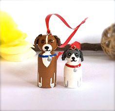 Custom Pet Ornament or Pendant Dog Cat Christmas Ornament Wood Peg Doll Peggie Personalized Animal Toy Keepsake Cute Holiday Ornament