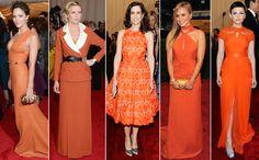 Tangerine mania at the Met Costume Gala