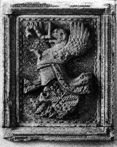 Stemma malatestiano dalla Torre di S. Giorgio (ora presso la Biblioteca Malatestiana di Cesena).