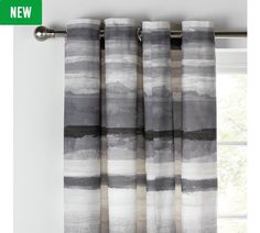 Buy Collection Watercolour Lined Curtains - 168x229cm - Grey at Argos.co.uk, visit Argos.co.uk to shop online for Curtains, Blinds, curtains and accessories, Home furnishings, Home and garden