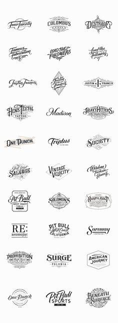 Handlettered Logotypes, Set 4, 2014-2015