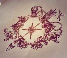 tattoo compass arrow - Google Search