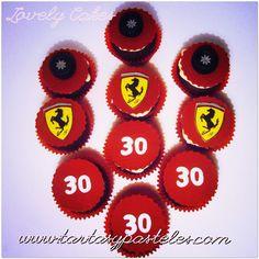 Cupcakes Ferrari formula 1