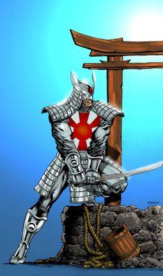 Silver Samurai by Timothy-Brown Superhero Characters, Comic Book Characters, Comic Character, Comic Books Art, Comic Art, Character Design, Marvel Villains, Marvel Comics Art, Marvel Heroes