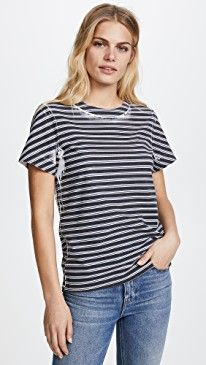 New T by Alexander Wang High Twist Striped Short Sleeve Tee online. Find great deals on Oak Clothing from top store. Sku hbir38426anic27088