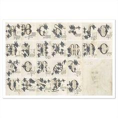 Alphabet gothique de Marie de Bourgogne