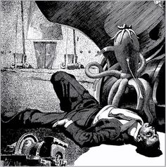 Virgil Finlay, Return to Earth by Willis Knapp Jones, Weird Tales 37-06.