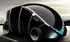 Eco Factor: Concept vehicle for the year 2020 designed to run on electromagnetic wheels.