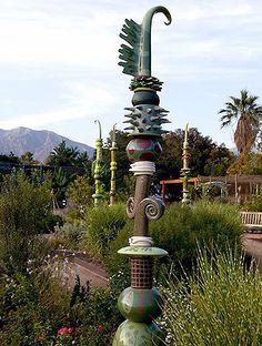 Leslie Codina's ceramic totems