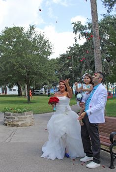 After Wedding With Petals In The Wind Old Fort Park New Smyrna Beach Florida