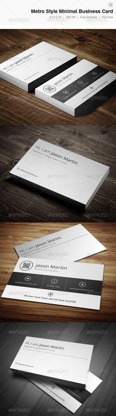 Metro Style Minimal Business Card - 19