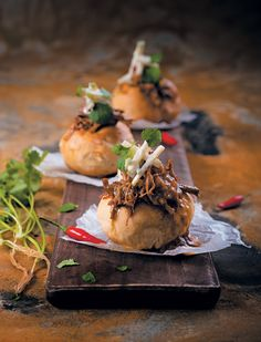 Pulled Lamb Masala Bunny Chow with Spicy Apple Slaw