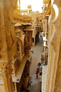 """Golden City by Prugs Jaisalmer About this sound pronunciation (help·info) (Rajasthani: जैसलमेर), nicknamed """"The Golden city"""", is a town in the Indian state of Rajasthan. It is located 575 kilometres. Jaisalmer, Places Around The World, Oh The Places You'll Go, Places To Travel, Around The Worlds, Varanasi, Beautiful World, Beautiful Places, Beautiful Buildings"""