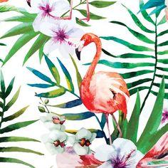 Poster - Tropical Flamingo