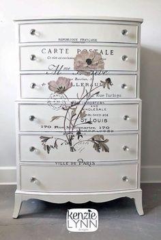 Antique White Dresser with Transfer | General Finishes Design Center