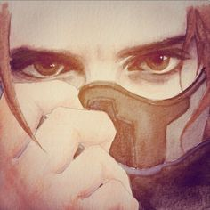 I wish I knew who the artist is... This is absolutely amazing!! The eyes are incredible...