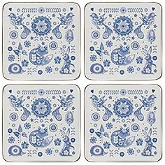 Queens - Set of four cork 'Penzance' coasters