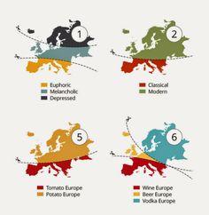 Atlas de los Prejuicios de Yanko Tsvetkov, una satírica representación gráfica de los prejuicios en Europa