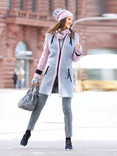 Пальто с застежкой-молнией