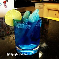 Check out the Breaking Bad Blue Margarita! This drink is sexy and delicious! For the recipe, click here: http://www.tipsybartender.com/blog/breaking-bad-blue-margarita