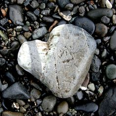 nature's heart This rock is battered and bruise as Christ was for our transgression. It was made to stand out above the darkness to remind us of His love of us all. This was purposeful.
