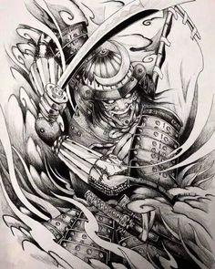 Samurai Maske Tattoo, Hannya Samurai, Samurai Tattoo Sleeve, Samurai Warrior Tattoo, Warrior Tattoos, Samurai-krieger Tattoo, Hannya Mask Tattoo, Hanya Tattoo, Demon Tattoo
