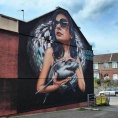 Work by #Voyder ● For the #Upfest Festival in Bristol, UK #bristolstreetart #streetartbristol #bristolgraffiti #streetart