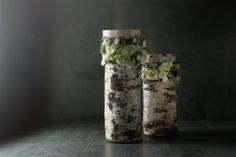 berkenstam doorgezaagd, stukje oase-steekschuim ertussen en opvullen met bloemen vers of van papier ( https://www.pinterest.com/pin/270216046362358117/ ) crea-paloppo