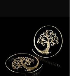 Old Life Tree Spiral Hoops