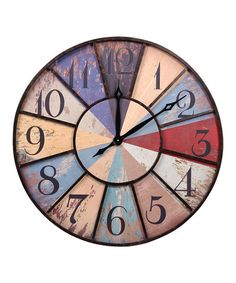 Love this Color Wheel Wall Clock on #zulily! #zulilyfinds