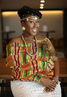 Miss Ghana UK 2017 Winner and the 15 Beauties She Competed Against Best African Dresses, African Wear, African Women, African Fashion, African Style, Ghana Wedding, Traditional African Clothing, Kente Dress, Kente Styles