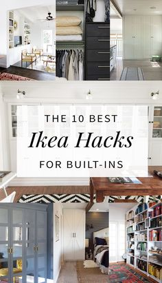 The best built in Ikea hacks from around the web for wardrobes, shelving, and bookcases. You won't believe these transformations!