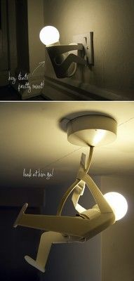 This is a really funny light for your home! Our LED lights would be perfect for these silly fixtures.