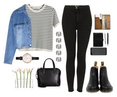 """""""#124"""" by inesteixeira2012-1 ❤ liked on Polyvore featuring Chicnova Fashion, Topshop, Steve J & Yoni P, Dr. Martens, Valextra, Mulberry, Montblanc, CO, Dot & Bo and Marc by Marc Jacobs"""
