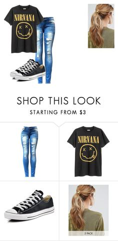"""Untitled #207"" by willowthemelonnerd ❤ liked on Polyvore featuring beauty, Converse and Kitsch"