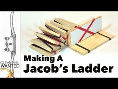 How to make a Jacob's Ladder toy with hand tools. - YouTube
