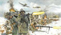 German infantry on the Eastern front, winter German Soldiers Ww2, German Army, Military Art, Military History, Eastern Front Ww2, Kargil War, Military Drawings, Ww2 Pictures, Ww2 History
