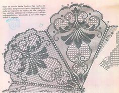 Королевская салфетка крючок схема 3
