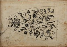 1730's German embroidery.