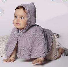 Пончо для самых маленьких - схема вязания спицами. Вяжем Пончо на Verena.ru