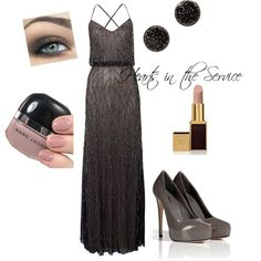 """Sparkling Military Ball"" by hearts-inthe-service on Polyvore"