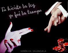 Fanart para Tú hiciste la ley, yo fui la trampa, de Verónica Valenzuela  (Maca - Bookceando Entre Letras)