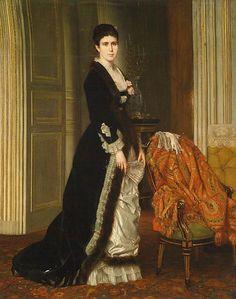 Louis Roux Portrait de Mme Aubry-Vites 1878